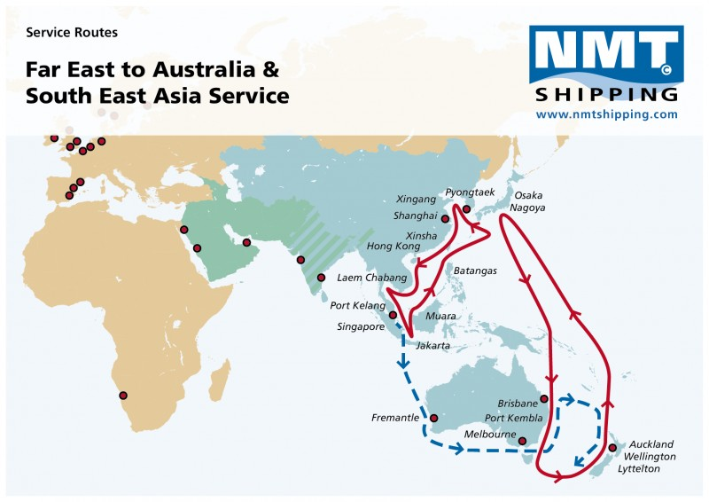 Far East & Oceania | NMT Shipping — your global Ro/Ro specialist